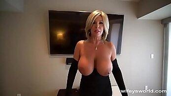 Big Tit MILF Giving Long Cumshot Whores Drilling Husband
