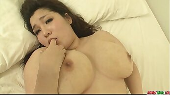 Busty babe loves finger fucking pussy and cunt