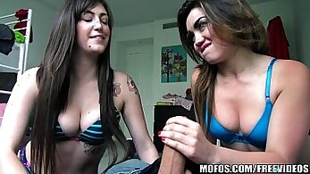 College Threesome for Student With Hitachi