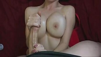 Big tit girlfriend fucks till cunts cum