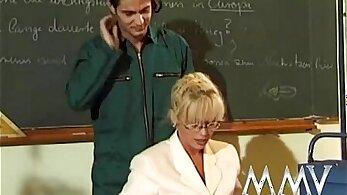 Busty amateur assfucked by school teacher