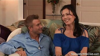 Can-Am Exotic Young Brunette MILF Gives Delight For Her BFF &joi Swinger