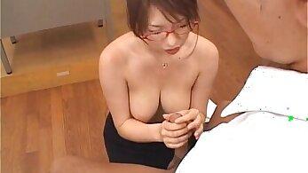 Japanese Teacher fucks student friend