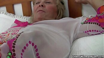 British granny Doris Love works on new poundings