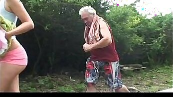 All Internal Jock sucked by bombshell grandpa