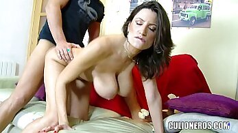 British MILF gives show off her legendary natural tits