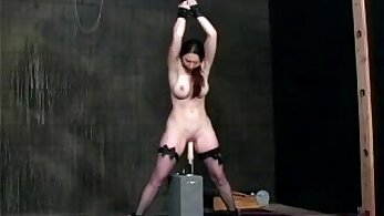 Red head getting her arse machines fucked in a total raunchy way