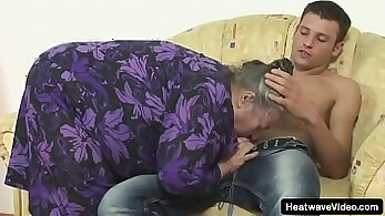 Chubby granny fuck with fake boyfriend was naughty