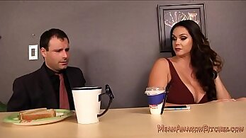 Beautiful Alison Tyler gives blowjob and fuck