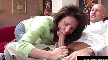 Curly wife masturbates for Internet sex
