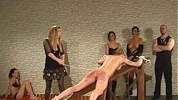 Cane humiliation with animals and much spanking
