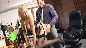 Boss Session With a Hot Stockings Girl