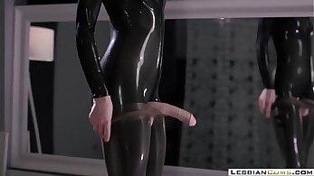 Beautiful strapon orgasm and masturbation