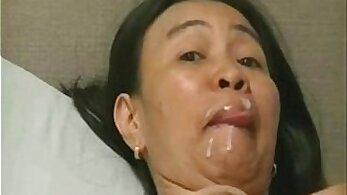 Asian Mature With Tiny Lips Teasing